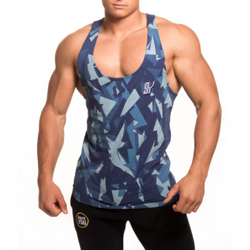 SY cutted Tank - camo blue