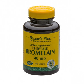 Nature's Plus Chewable Bromelain 180 Tabs