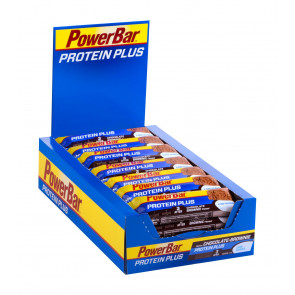 PowerBar Protein Plus Low Sugar - Geschmack: Chocolate Brownie - Box (30x 35g Riegel)