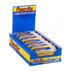 PowerBar Protein Plus Reduced in Carbs - Geschmack: Vanille - Box (30x 35g Riegel)