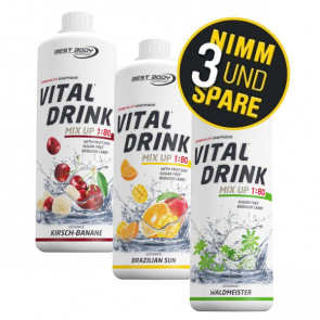 Best Body Nutrition® Vital Drink Aktion 3x 1000ml