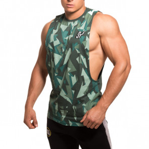SY cutted Tank camo green front