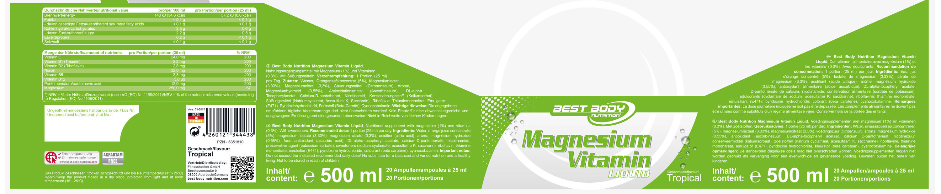 Best Body Nutrition Magnesium Etikett