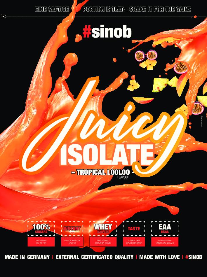 #sinob BlackLine 2.0 Juicy Isolate Nährwerte