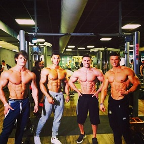 Jeff Seid, Felix Valeintino, Justin St. Paul & Ryan Terr Shoulder Workout