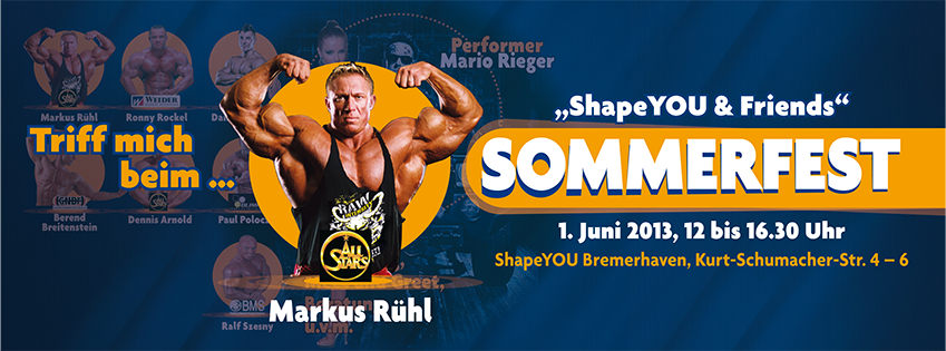 Fitness & nutrition seminar with Markus Rühl
