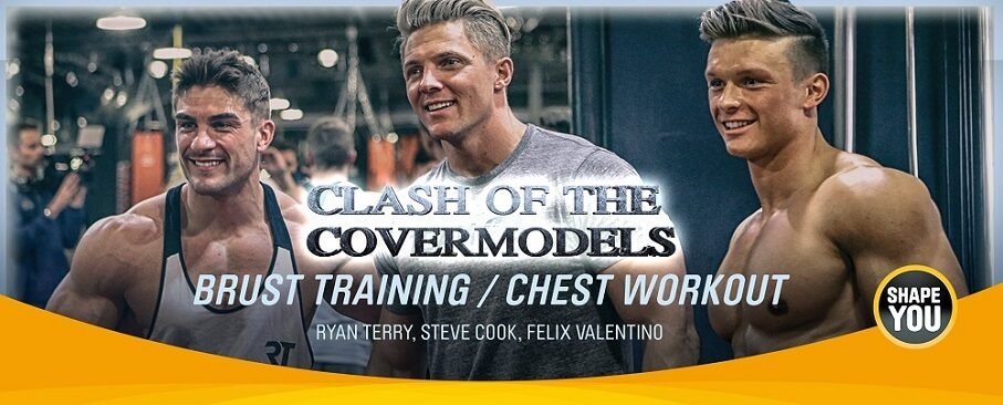 Clash of the Covermodels - Steve Cook, Ryan Terry und Felix Valentino