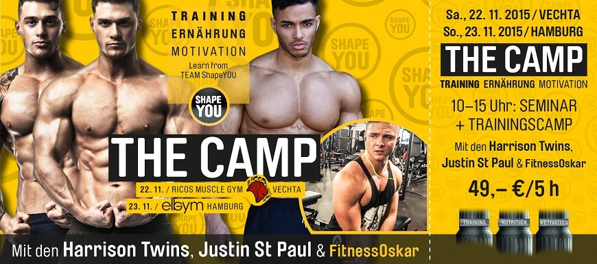 The Camp mit den Harrison Twins & Justin St Paul
