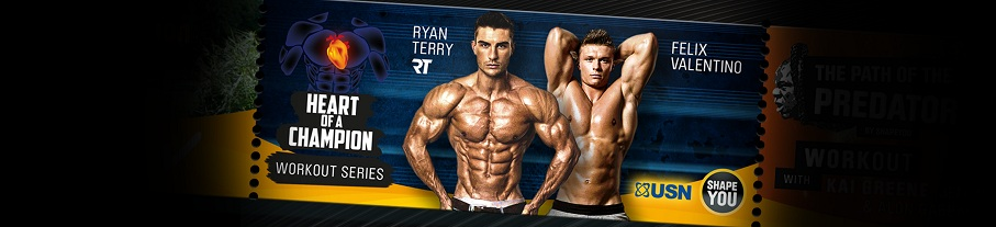 Ryan Terry's and Felix Valentino's Heart Of A Champion Workout Series