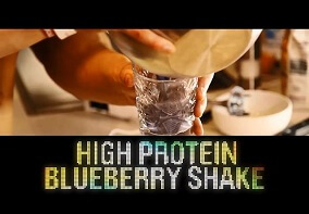Shredded Club: Jeff Seid's High Protein Blueberry Shake