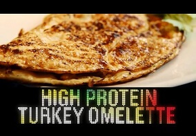 Shredded Club: Jeff Seid's High Protein Turkey Omelette