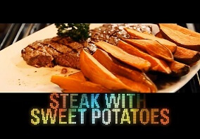 Shredded Club: Jeff Seid's Steak With Sweet Potatoes